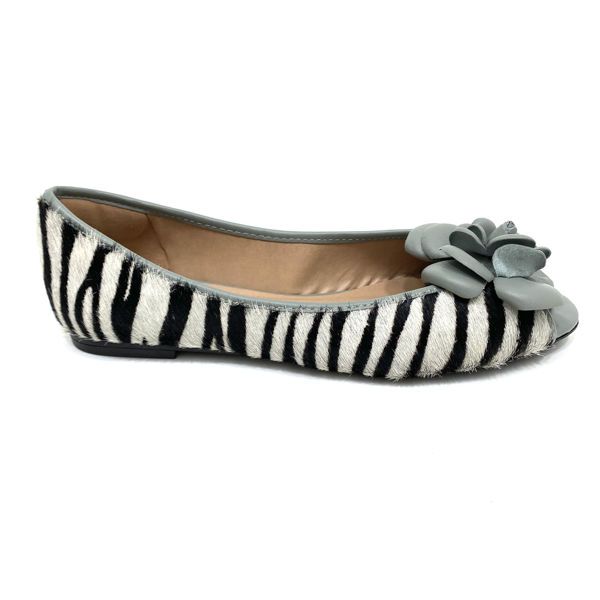 Peep Toe Capri 0166 Zebra