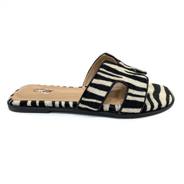 Rasteira Capri 0101 Zebra